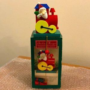 Hallmark MIB vintage holiday stocking hanger